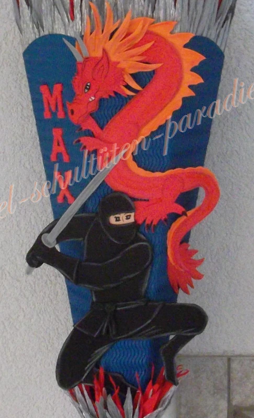 bastel schult ten paradies ninja mit drachen selbst. Black Bedroom Furniture Sets. Home Design Ideas