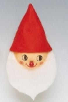 Wattekopf 4cm Zwerg Weihnachtsmann